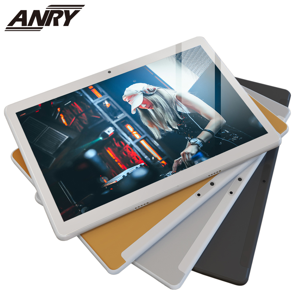 ANRY Android 7.0 Tablet PC Google Play 4 GB RAM 64 GB Storage WiFi BT 1280x800 IPS Screen Dual Cameras RS10  Model 10 Inch