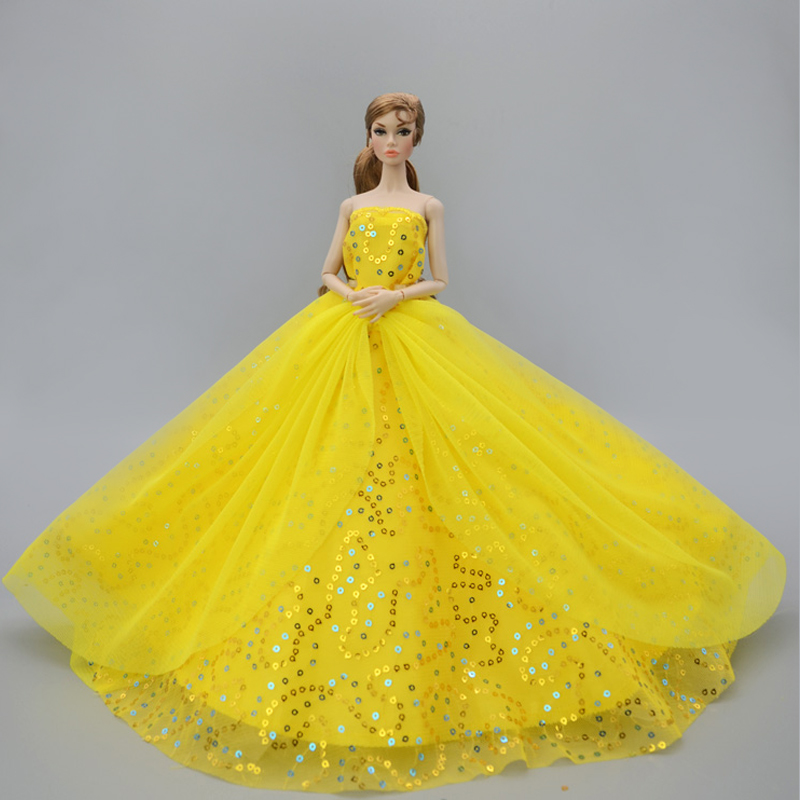 Barbie Doll Yellow Gown Skirt