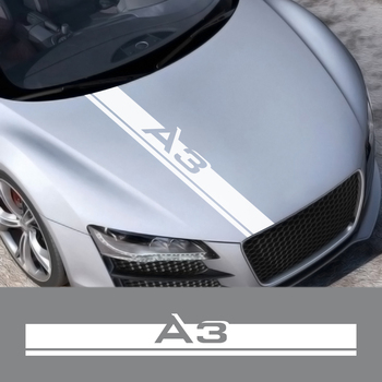 For Audi A3 8P S3 8V 8L Sportback E-Tron Limousine Car Accessories Strip Car Hood Sticker Vinyl Film Bonnet Decoration Decals image