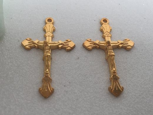 Zinc Alloy Jesus Cross Pendant Decorative Card 40*25*1.1MM