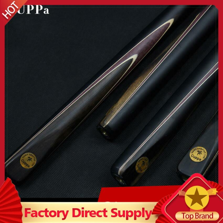 Cuppa Snooker Cue 3/4 Jointed Stick 9.8mm/11.5mm Tips With Extension Ebony Handle Professional China