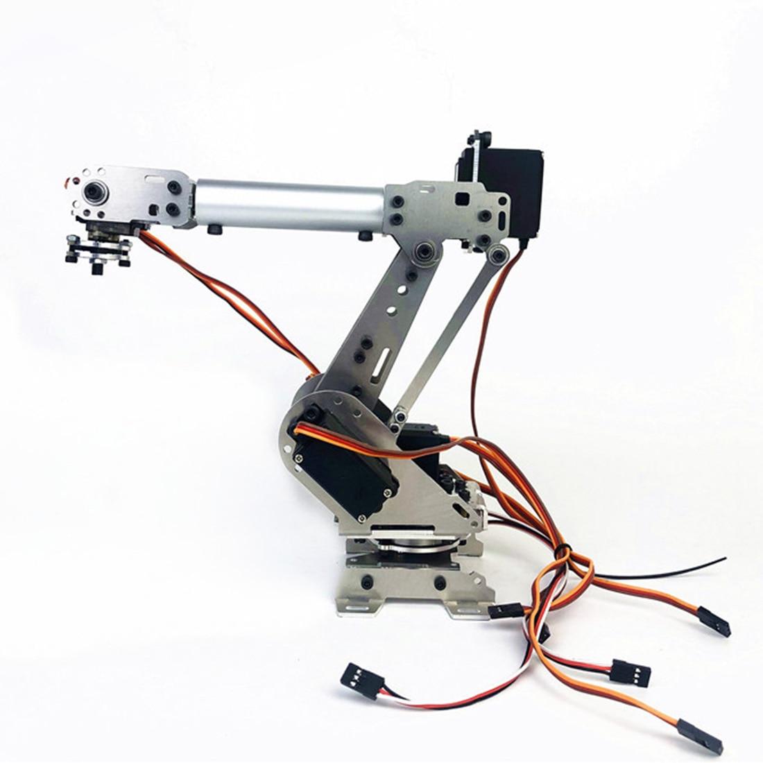 DIY 6DOF Mechanical Arm Robot Kit ABB Industrial Robot Model For Children Kids Developmental Early Educational Toys Xmas Gift