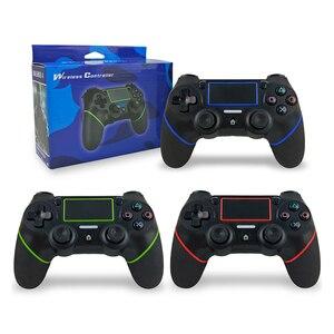 Image 5 - لوحة ألعاب لاسلكية ل PS4 صدمة مزدوجة أذرع التحكم في ألعاب الفيديو بلوتوث قابلة للشحن غمبد استبدال لمحطة اللعب 4