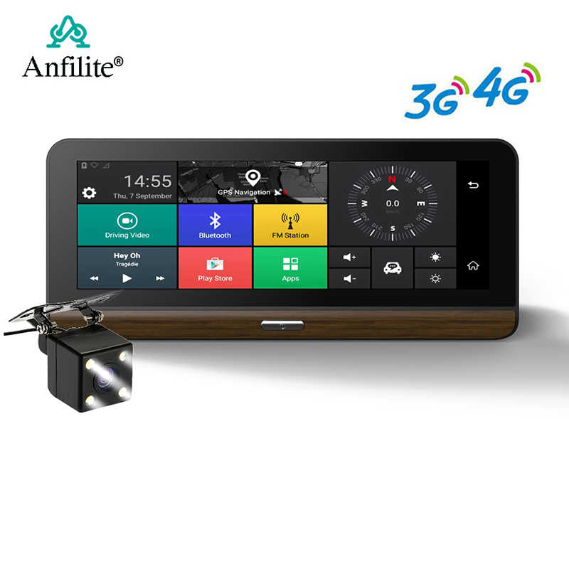 Anfilite 3G/4G سيارة كاميرا DVR دعم زائد 7.8 بوصة أندرويد 5.1 GPS BT داش كام مسجل فيديو شاحنة لتحديد المواقع والملاحة