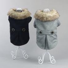 Одежда для собак; Сезон осень зима; Плюшевое и утолщенное пальто