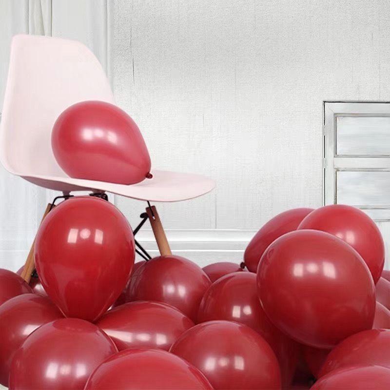 100pcs Pomegranate Red Ruby Balloon Wedding Arrangement Room Decoration Ruby Latex Balloon Proposal Atmosphere Arrangement