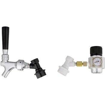 Portable Cornelius Keg Dispense Kit - Mini CO2 Regulator and Draft Beer Dispenser Keg Spout for Beer and Soda