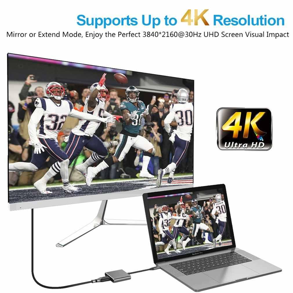 Кабель-адаптер USB 3,1 Type C to серый USB-C 4K HDMI USB 3,0 для Apple Macbook