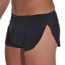 Пижамы Sexy Cueca Trunk Homme Men% 27 Boxer Shorts Pyjamas Side Split Underwear Panties Underpants Low Rise Men Boxers Shorts