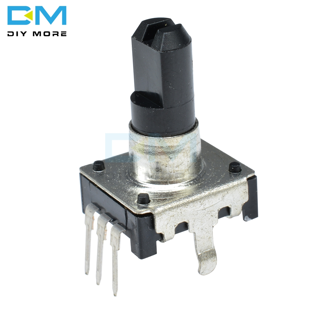 5PCS Drehgeber EC12 Audio-Digital-Potentiometer 15mm Griff DC 5V 10mA 360 Grad Winkel 20 Puls für PIC Oder Mikrocontroller
