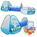 3 в 1 океан детская палатка дом игрушка мяч бассейн портативная детская палатки-Типи с ползать туннель бассейн мяч яма дом Детская палатка