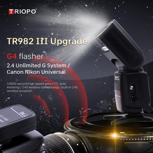 Image 2 - Triopo TR 982III TR 982 III Flash Speedlite HSS Multi LCD Wireless Master Slave Mode Flash Light For CANON NIKON DSLR Camera
