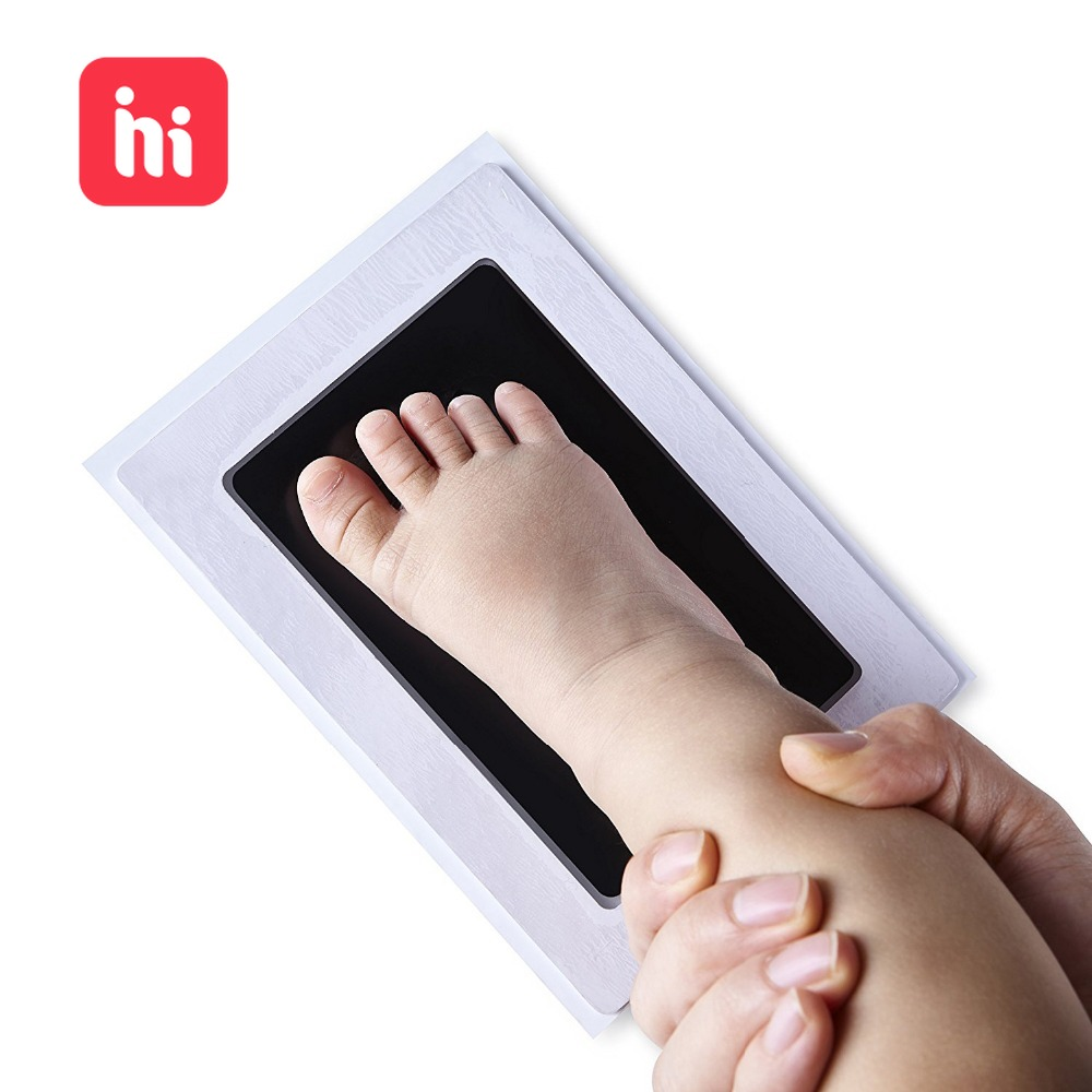Baby Hand Foot Print Infant Toy Kit Imprint Footprint Imprint Baby Souvenirs Newborn Baby Cushion Ink Footprint Non-Toxic