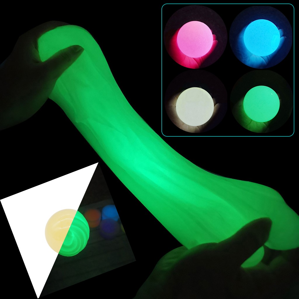 3D Fluffy Foam Clay Slime DIY Soft Cotton Slime Kit Glow In The Dark Slime Luminous Putty Clay Education Novelty Toys