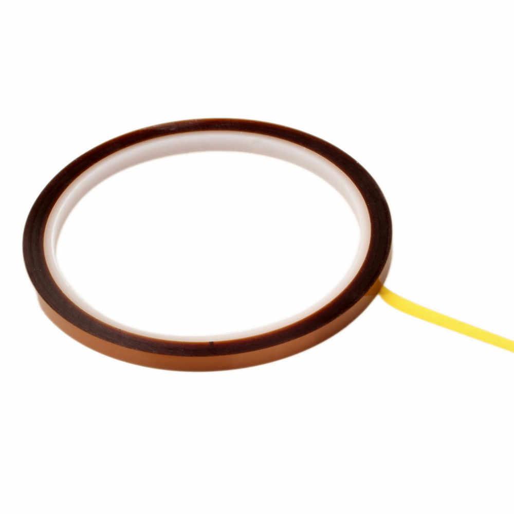 Wysokiej jakości 1 sztuk jeden po stronie samoprzylepne 5mm X100ft wysokiej temperatura ciepło odporne na taśma poliamidowa nowy