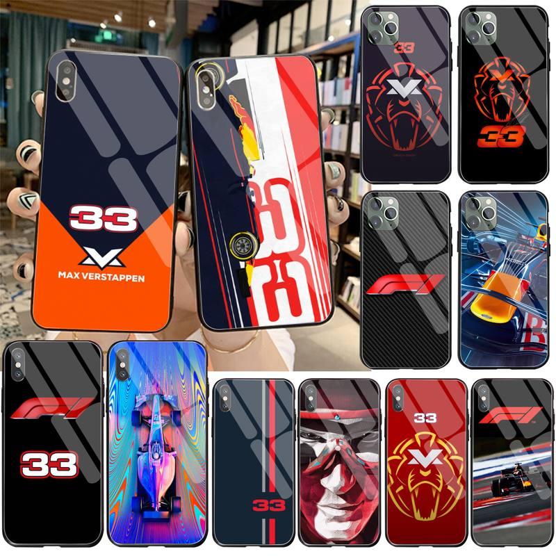 F1 Racer 33 numero custodia per telefono in vetro temperato per iPhone 12 pro max mini 11 Pro XR XS MAX 8X7 6S 6 Plus SE 2020 custodia