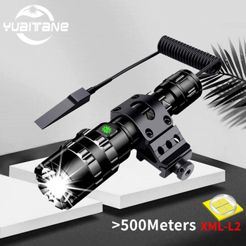 100000lms Ultra Bright Tactical LED Flashlight 18650 USB Rechargeable Scout light Torch led Hunting light 5Mode Outdoor Lantern