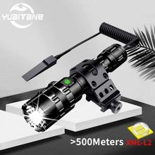 100000lms torcia a LED tattica Ultra luminosa 18650 torcia ricaricabile USB Scout light torcia a led da caccia lanterna da esterno a 5 modalità