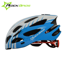 цена на ROCKBROS Pro Cycling Helmet with Visor Ultralight EPS+PC Integrally-molded MTB Road Bike Helmet 28 Vents Bicycle Helmet 57-62cm