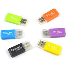 Portable USB 2.0 TF T-Flash Memory Card Reader Adapter for PC Laptop Computer dropship