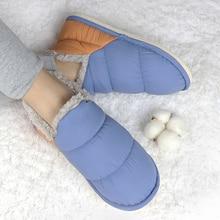 Slippers Fur-Sliders Women Winter Cotton Shoes Female Indoor No Pantuflas-Mujer Warm