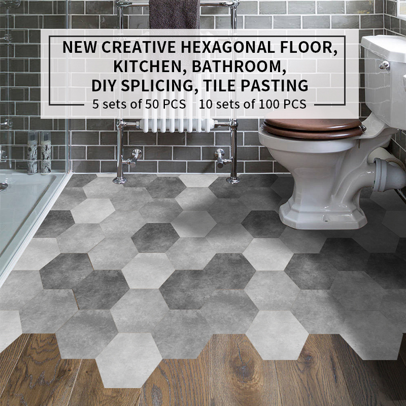 Bathroom Floor Stickers L Stick