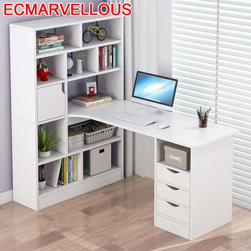 Escritorio Lap Pliante Standing Support Ordinateur Portable Biurko Tisch Mesa Bedside Computer Desk Tablo Table With Bookshelf
