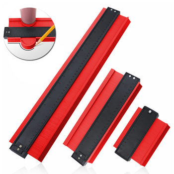 21inch Contour Gauge Profile Gauge Tiling Laminate Tiles Edge Shaping Wood Measure Ruler ABS Contour Gauge Duplicator Red