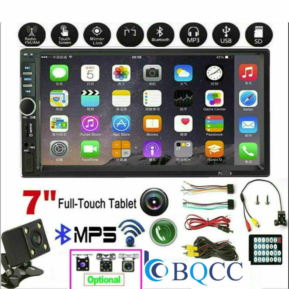2Din 7 ''HD タッチスクリーン車のステレオ Bluetooth マルチメディアプレーヤービルド Autoradio FM AUX USB SD IOS /Android のミラーリンク
