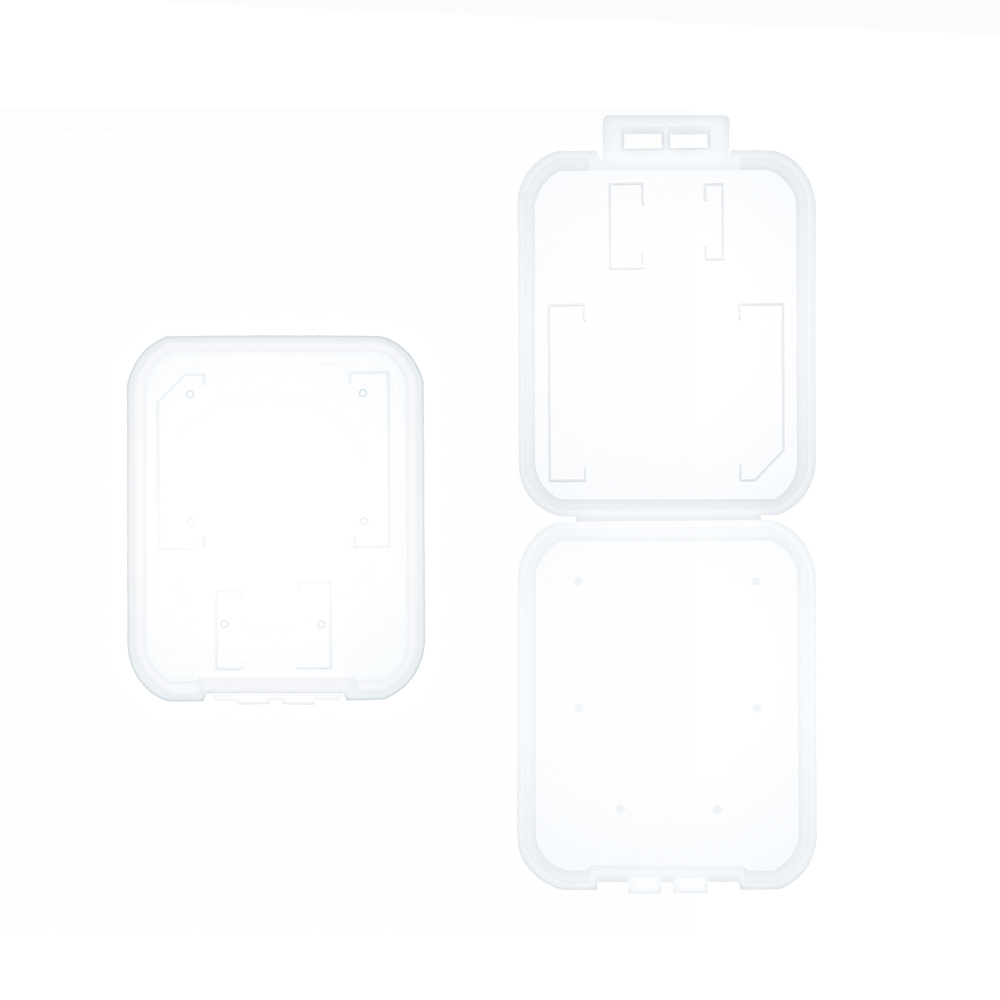 10pcs/lot Transparent Standard SD SDHC Memory Card Case Holder Box Storage New 6