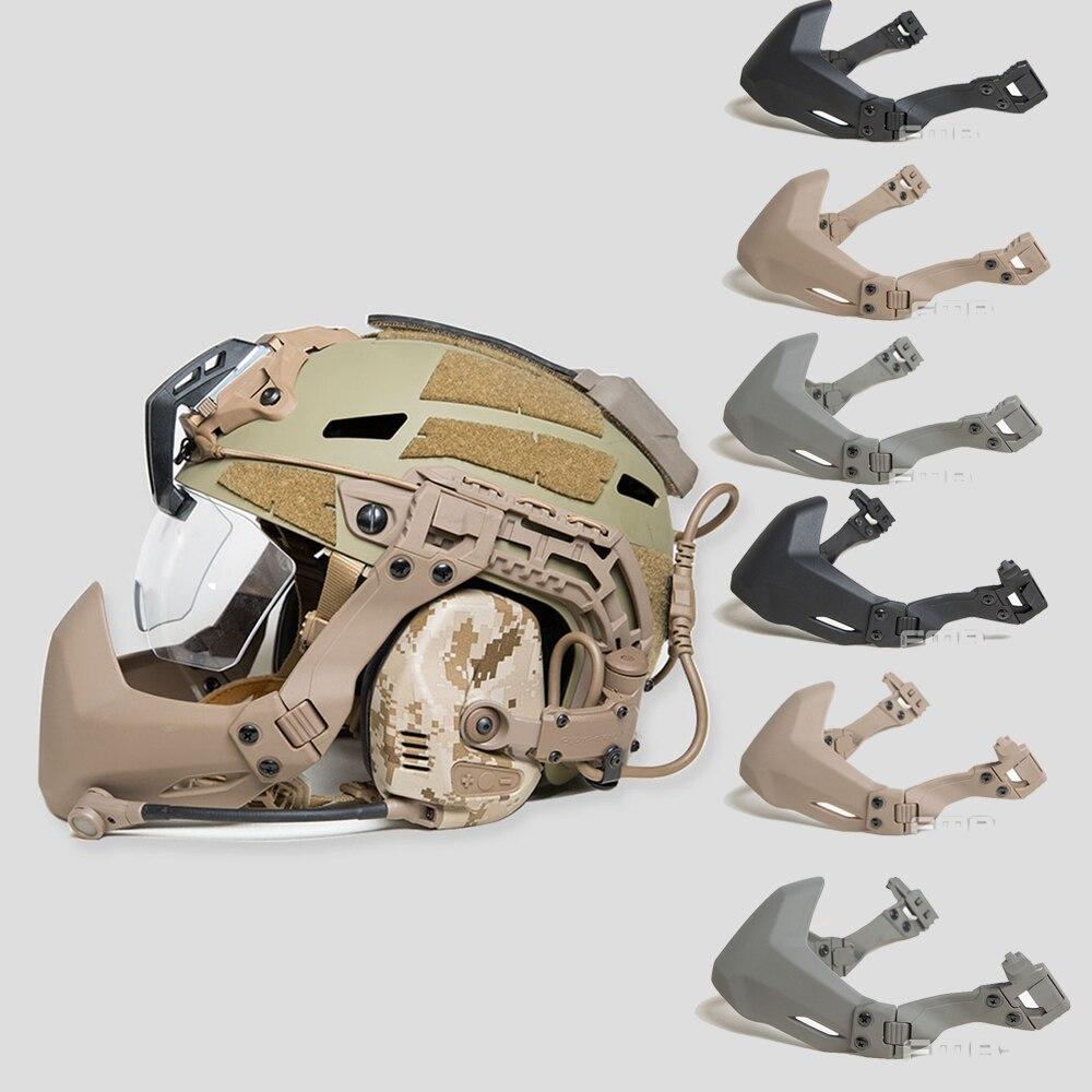 ¡Oferta! máscara de medio sello FMA para casco táctico, accesorios para exterior, casco militar, máscara plegable Airsoft