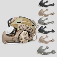FMA Halb Dichtung Maske Für Taktische Getriebe Helm Zubehör Outdoor Paintball Maske Armee Airsoft Helm Klapp Maske Militär Helm-in Helme aus Sport und Unterhaltung bei