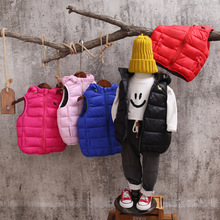 Kids Vest Children Girls Vest Hooded Jacket Winter Autumn Waistcoats Coats for Boy Baby Casual Fashion 2019 Girl Clothes недорого