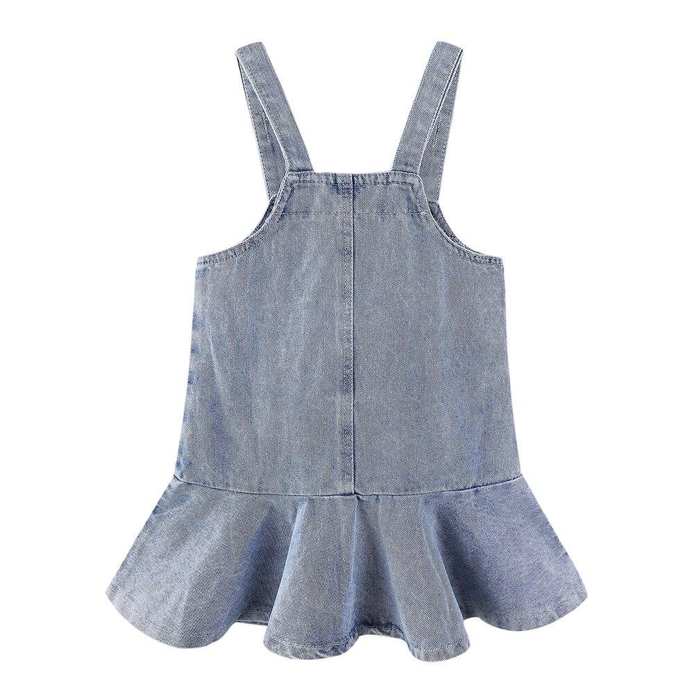 Mudkingdom Toddler Girl Dresses Denim Overalls Girl Skirtall Jumper Plain Pinafore Mini Dress Toddler Girl Spring Clothes 4