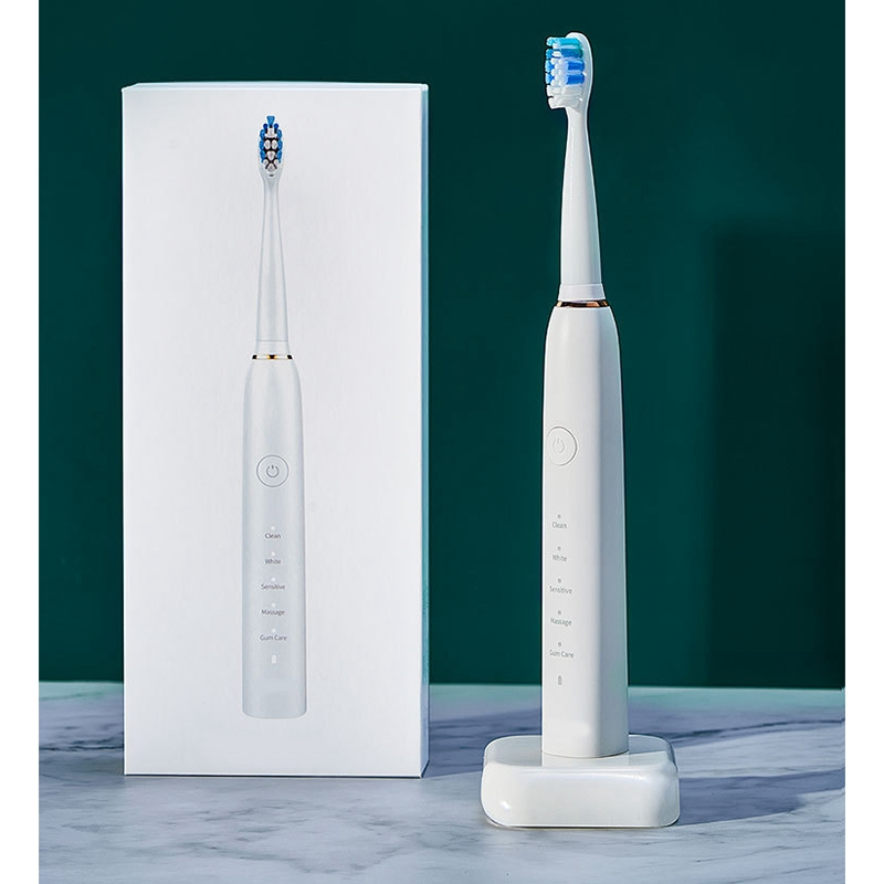 Ultrasonic Couple and Kids Electric Toothbrush with Coaching Pressure Sensor and Timer for Kids 6+ image