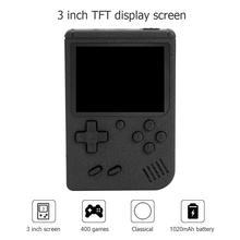 Портативная портативная игровая консоль в стиле ретро, 3 дюймовый TFT цветной экран, встроенные 400 игр, 8 битный игровой плеер, геймпад, детская игрушка в подарок