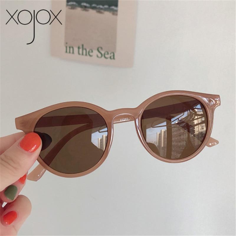 XojoX 2020 Round Sunglasses Women Fashion Brand Designer Vintage Sun Glasses  Girls Goggles Ladies Shade Eyewear UV400