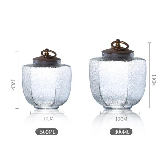 Glass Jars Mason Jar Transparent Storage Can Cork Stopper Bottle Candy Glass Bottles Containers Sealed Tea Coffee Storage Tank 3