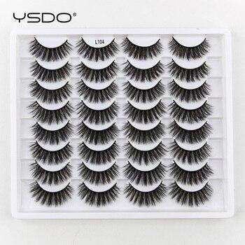YSDO 3/5/16 pairs thick 3d mink lashes natural false eyelashes long mink eyelashes handmade soft fluffy lashes makeup faux cils 1