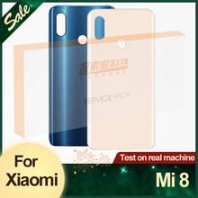 Оригинальная Замена заднего корпуса для Xiaomi Mi 8, задняя крышка аккумуляторного стекла, клейкая наклейка для Xiaomi Mi8, задняя крышка