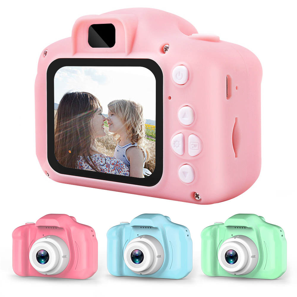 HD Screen Chargable Digital Mini Camera Outdoor Photography Props Cute Toy Cameras For Children Kid Birthday Gift Timed Shooting