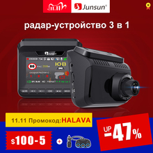 Junsun L10 Auto DVR Kamera 3 in 1 Video Recorder GPS Full HD 2304 × 1296 P/1080 P radar Detektor DashCam LDWS Antiradar Stative