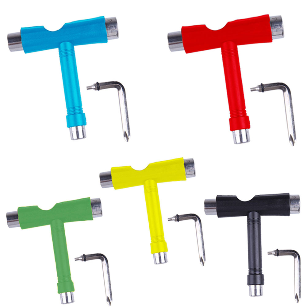 Roller Skate Skate Scooter Skateboard Tools Mini Kick T Type Wrench Tools Accessories SEC88