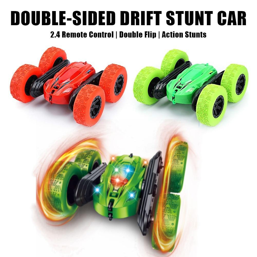 RC Car 2.4G 4CH LED Stunt Drift Deformation Buggy Car Rock Crawler Roll Car 360 Degree Flip Kids Robot Toys Radio Controlled