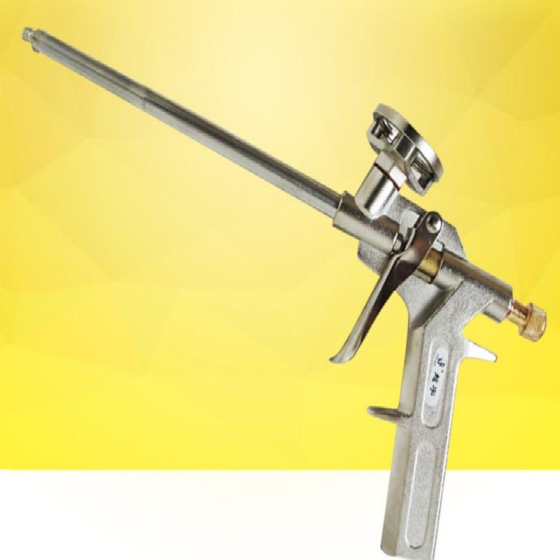 Foam Gun Full Metal Cement Caulking Gun Pu Foam Dispensing Gun Polyurethane Caulking Tool Free Shipping