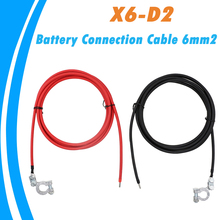 1m 2m 3m Battery Cable 6mm2 with Battery Terminals Clamps Pair Screw Connection Positive & Negative Brass Cables Connectors 2020