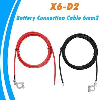 Câble de batterie 6mm2 avec bornes de batterie   1m 2m 3m, paire de pinces de connexion de vis, connecteurs de câbles en laiton positifs et négatifs 2020