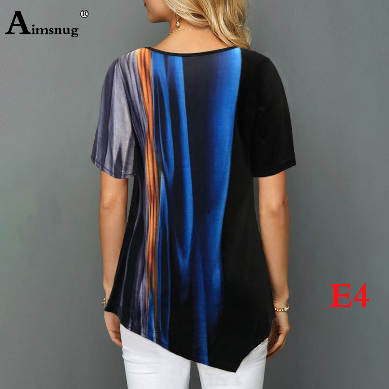 H6ff873d2a2ac4c298f5240243da7a37fh - Plus size 4xl 5xl Women Fashion Print Tops Round Neck Short Sleeve Boho Tee shirts New Summer Female Casual Loose T-shirt