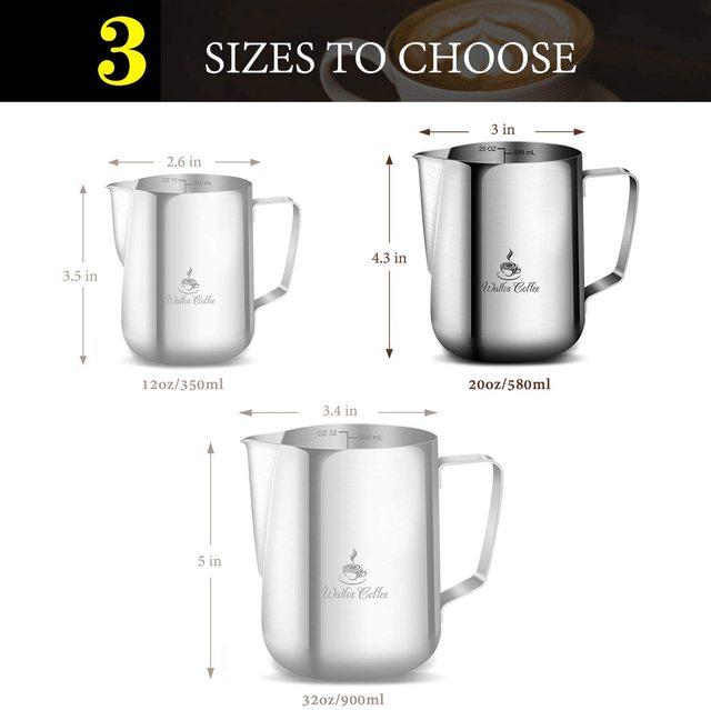Milk Frothing Jug Stainless Steel 6