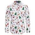 Рубашка мужская с длинным рукавом, Повседневная Блузка с принтом диких животных, лацканами, на пуговицах, весна-осень